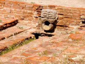 Gargoyle fountain at Mission San Luis Rey