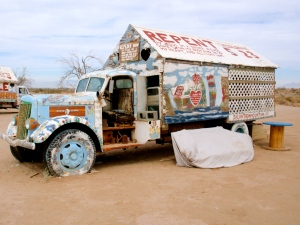 Leonard Knight's home at Slab City