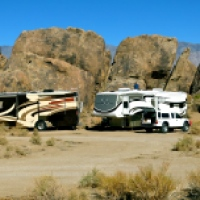 A Boondocking First ~ The Alabama Hills near Lone Pine, CA