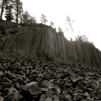 A Rare Geologic Site ~ Devil's Postpile National Monument, CA