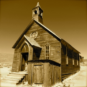 Ghost town church ~ Bodie, CA