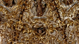 Gold-leaf chapel ceiling ~ Puebla