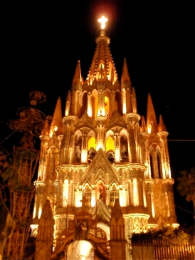 Parroquia at night ~ San Miguel de Allende