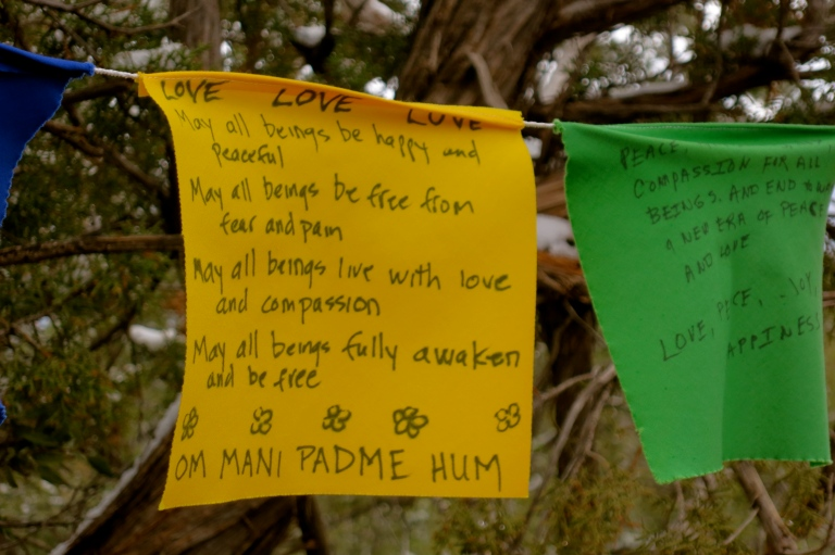 Prayer flag mantra
