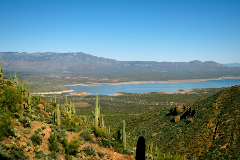 Roosevelt Lake seen from trail to the Lower Cliff Dwelling