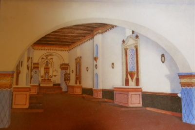 Rendering of the original mission interior