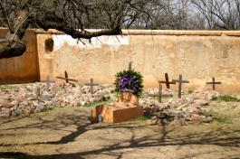 What remains of the mission cemetery
