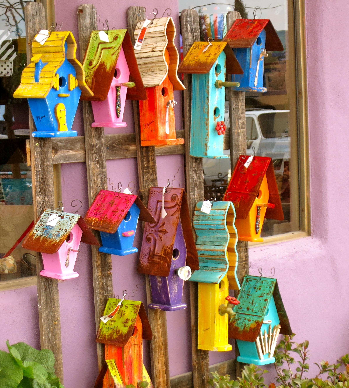 Funky Birdhouses Paint Your Landscape