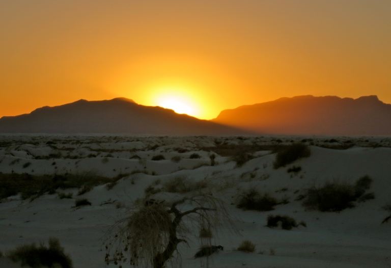 Sunset over the San Andres Mountains