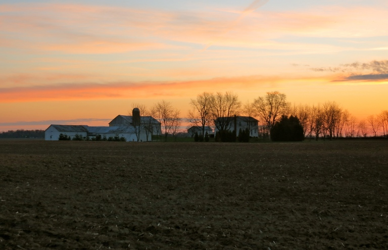 farm country sunrise