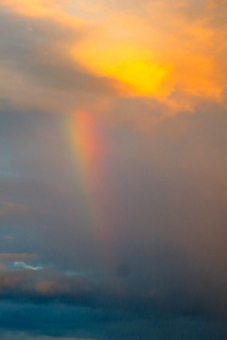 Sunset rainbow