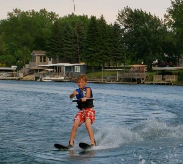 Blake skiing like a pro