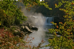 Cumberland Falls through the mist