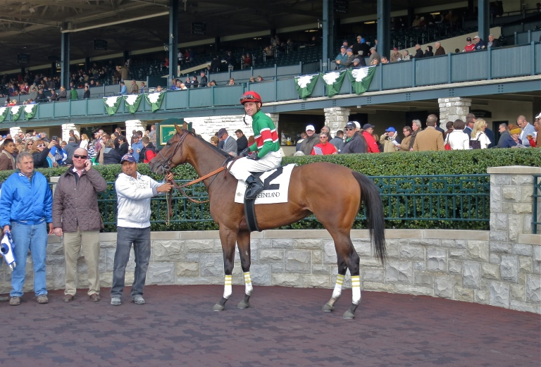 Dream Softly, ridden by Joseph Rocco, Jr. in the winner's circle