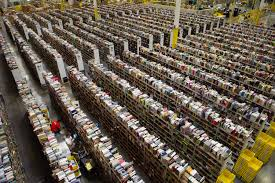 Bird's eye view of a distribution center