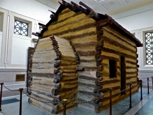 Symbolic birthplace cabin