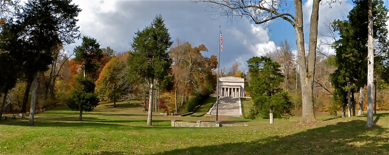 Panorama of the memorial and grounds
