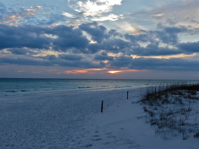 Sole wintery attempt at a sunset over the Emerald Coast