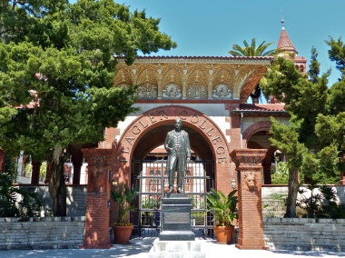 Grand entrance into Flagler College