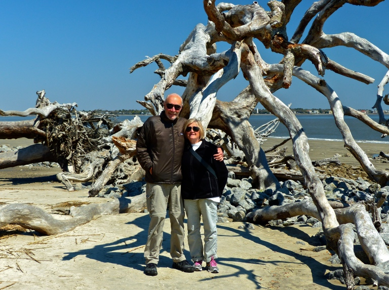 Good friends Stan & Marilyn on Driftwood Beach.