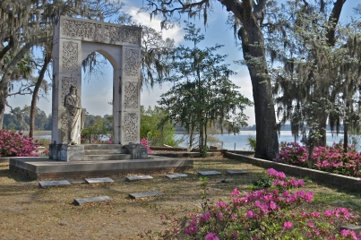 Lovely family crypt overlooking Wilmington River