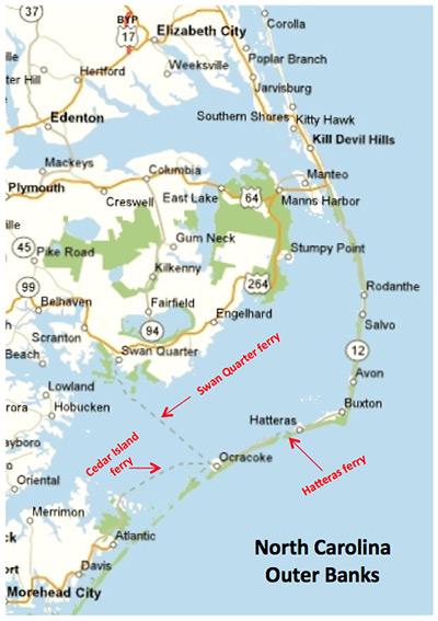 Map Of Shackleford Island