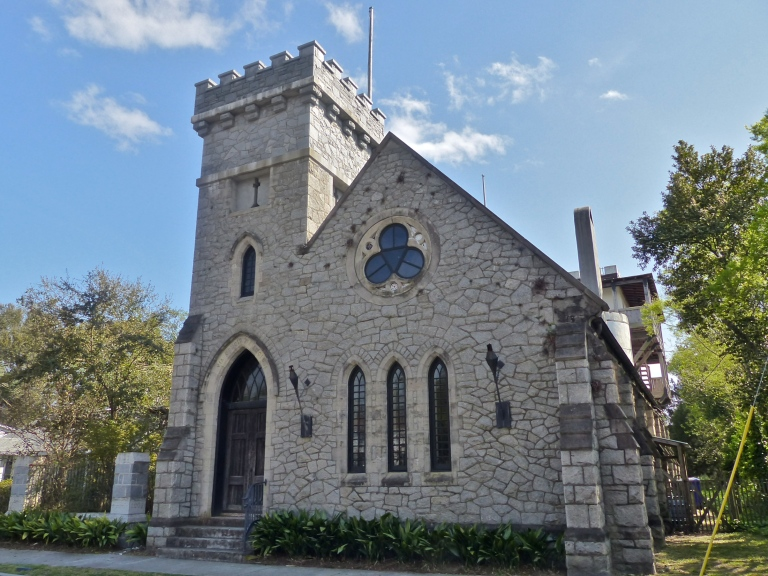 Is it a church?  Is it a castle?  Nope, just a very pricey private residence.