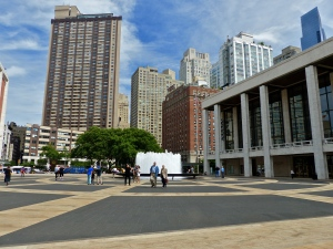 Lovely fountain and skyline view at Lincoln Center