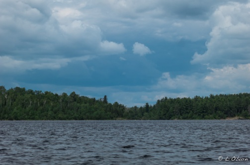 Impending storm over the boundary waters