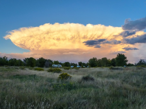 Interesting cloud formations over the campground