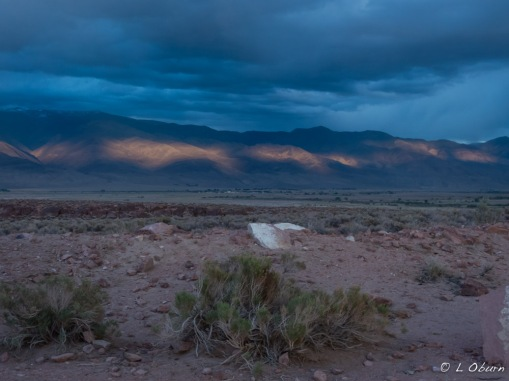 Blue hour in the Volcanic Tablelands before the storm