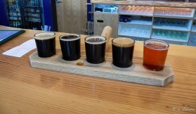 A flight at Caldera Brewery