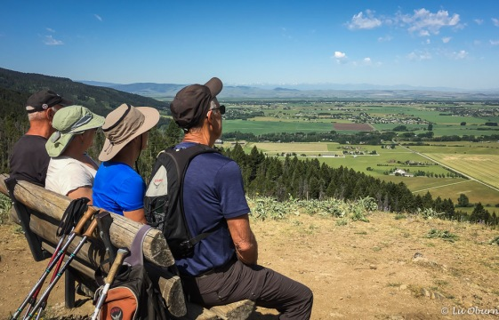 Jim, Rosie, me, & Terry enjoying the views on Triple Tree Trail