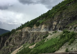A section of the Going-to-the-Sun Road