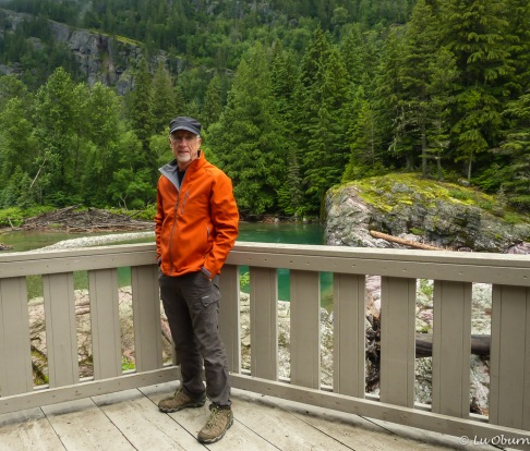 Terry at Avalanche Creek