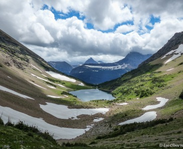 A view of Ptarmigan Lake from the tunnel