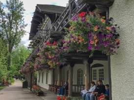 Lake McDonald Lodge is reminiscent of a Swiss chalet with a hunting lodge atmosphere.