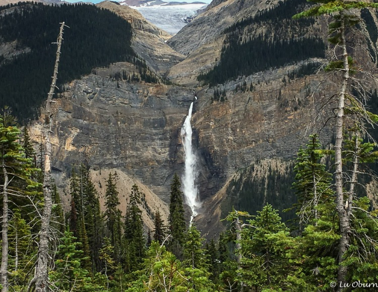 Takakkaw Falls - 830 foot drop in one stretch and 1260 foot drop in total, among the highest in Canada
