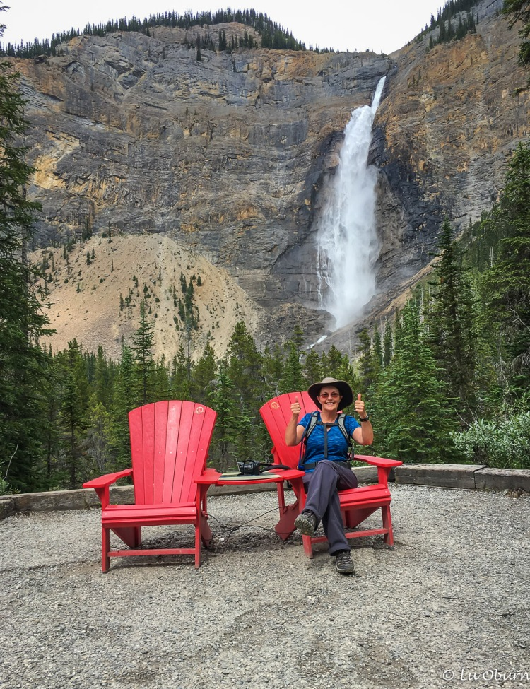 One of the infamous red chairs found after completing the Iceline Trail.