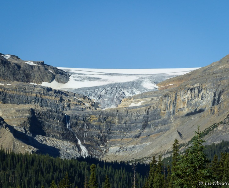 Bow Glacier and Bow Falls