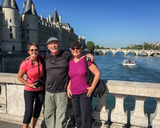Me, Frank & Margee with Sainte-Chapelle in the background
