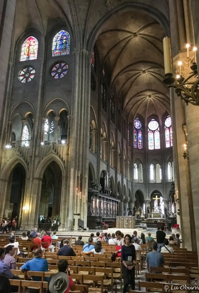 Inside the world-renown Notre Dame Cathedral