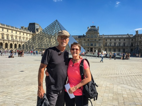 Terry and me outside the Louvre