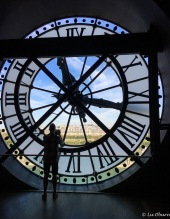 Silhouette of the clock tower at the Orsay