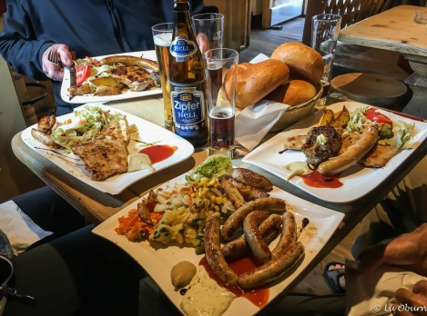 Typical Austrian lunch