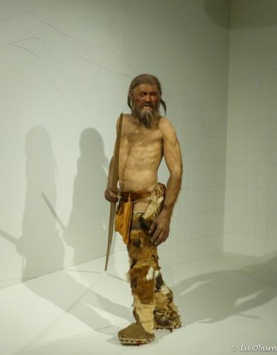 Ötzi the Iceman rendition