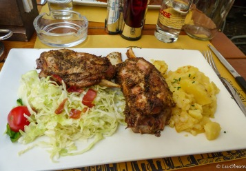 Delicious German lunch