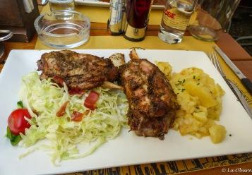 Delicious German lunch
