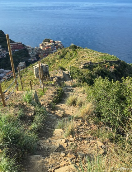 Volastra to Manarola hike - much steeper than it looks