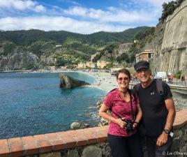 Enjoying the views of Monterosso beach